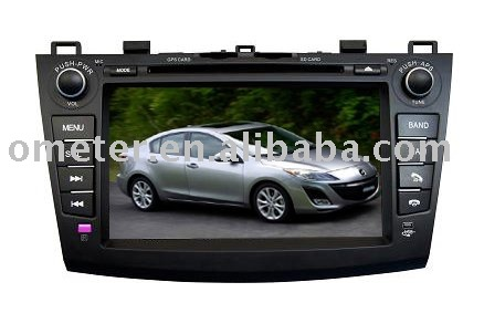 Hot selling New mazda 3 Car DVD Navi player with bluetooth and steering wheel control(Hong Kong)