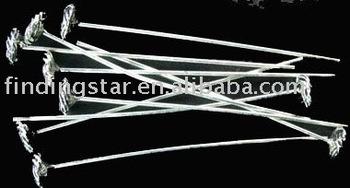 FREE SHIPPING 150pcs Tibetan silver HANDMADE Flat Tie head pin A820