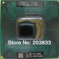 Brand Intel CPU T7700 SLA43 2.4GHz 4M 800MHz laptop bulk packing