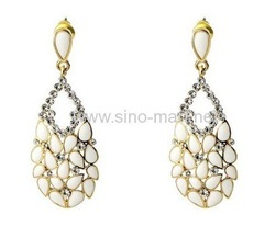 60pair/lot Free shipping,wholesale, Fashion Stone Earring , novel earrings, fashion jewelry(China (Mainland))
