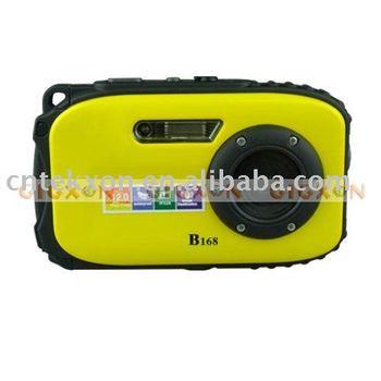 "Waterproof Digital Camera 9MP Sensor 2.7"" TFT Shock-Resistant"