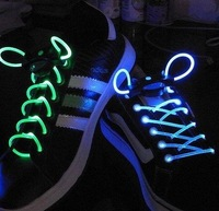 free shipping colorful led flashing shoelace