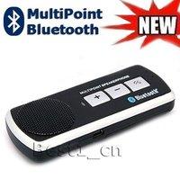 Handfree Bluetooth Multipoint Speaker Microphone Sun visor Carkit for Mobile phone Nokia motorola blackberry Iphone