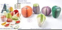 free shipping 600pcs/lot 10 kinds of fruits &5 kinds of Vegetables & Xmas tree & Ice cream Memo /Special Notepad/Note pad
