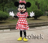 4 Sale Costume of Mrs Minnie Mouse Cartoon Mascot Dress Adult for Birthday Party