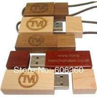 Free shipping 2GB 4GB 8GB 16GB 32GB 64GB Customize logo  wooden usb flash drive  personalized usb flash