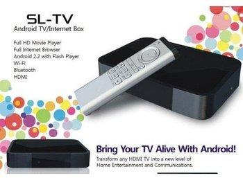 free shipping !Thinpax Android 2.2 TV/Internet Box Google TV