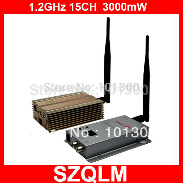 1.2GHz 3000mW 3km long range wireless audio video transmitter and receiver(China (Mainland))