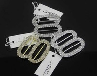 Free shipping!wedding wholesales double  crystal buckles