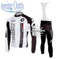 Free Shipping!!  CYCLING JERSEY+BIB PANTS BIKE SETS CLOTHES 2011 BMC-WHITE-SIZE:S-4XL