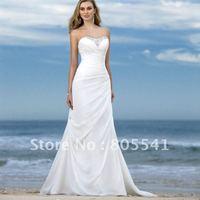 Свадебное платье hot-sale A-line chiffon short cascading ruffle beach wedding dress WD-35