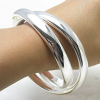 925 silver bracelet bangle cuff fashion jewelry