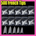Fast &amp; Free Shipping 500 Nail Art Acrylic Fake False  French Nail Tips Clear F296