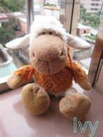 "NICI Sheep in Orange Clothing stuffed toy 10""NEW"
