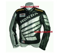 Free shipping! New Moto motorcycle Racing Leather for HONDA Jacket size S to XXXL