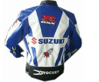 motorcycle Jackets racing jacket motorcycle SUZUKI jacket white/blue waterproof &windproof