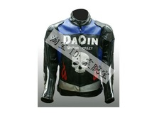 motorcycle Jacket DUHAN crazy skull Jackets racing jacket PU leather jacket Black