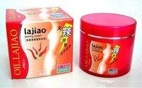 Original 20pcs/lot Brand New lajiao Free Shipping Hot Chili Oil Burn Fat Weight Loss Body Slimming Cream 200g