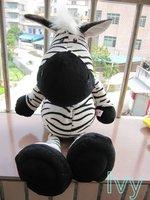 """NICI Black Stripe Zebra stuffed Animal 19""""NEW"""