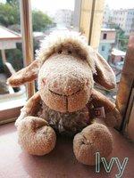 "NICI Pink Flower Brown Cloth Brown Sheep stuffed 9""new"