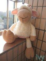 "NICI White Clothing Dorey Butterfly Sheep Stuffed 19"""