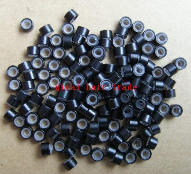 High quality!Free ship! 1000 pcs silicone micro ring link hair extension Wholesale hair accessories(China (Mainland))