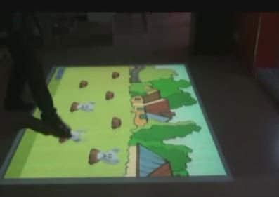 Interactive floor projection pro version system (hardware and softwar all in one) for Advertising, event, wedding(China (Mainland))