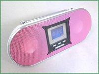 Singbox SV-902 USB/SD card FM radio mp3 mini speaker with LED display and alarm recording function,2pcs/lot free shipping