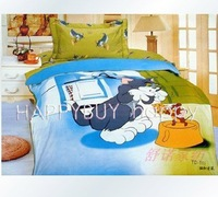 "Tom & Jerry Girls Boys Three-piece Cartoon Single 59""x78"" Bedding Set Gift Wholesale Free Shipping"