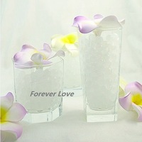FREE SHIPPING -- WHITE NEW Crystal Jello Wedding Party Centerpiece Decoration