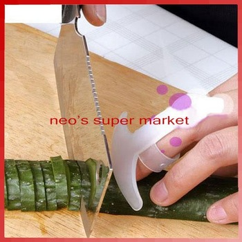 100pcs/lot Finger Guard Protector From Kitchen Knife Chop Cut New + Free Shipping