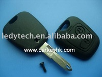 Good quality Peugeot 206 2 buttons remote key shell no logo & car key blank and cover
