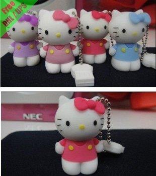 Free shipping by UPS/DHL hello kitty 8GB USB flash drive 50pcs/lot