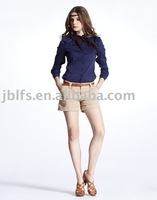 Free shipping, 50PCS start sales of high-quality 100% cotton easy-care women's fashion shirt