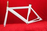 Aluminium Alloy White Fixed Gear Wheel Frame