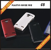 Free shipping --New high quality more colours plastic cover case mobile phone cellphone for NOKIA C5