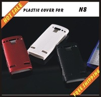 Free shipping --New high quality more colours plastic cover case mobile phone cellphone for NOKIA N8
