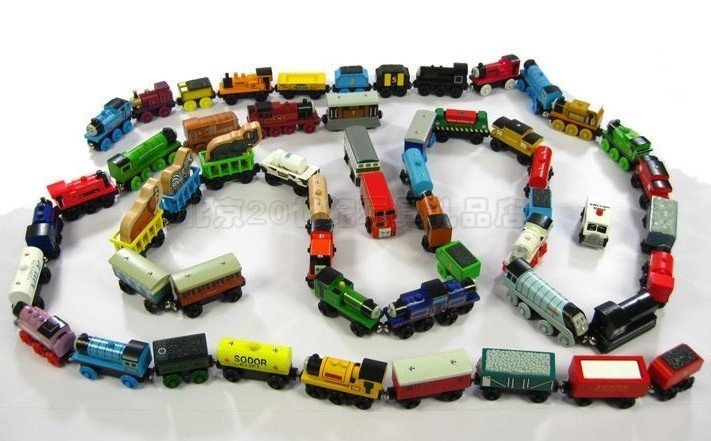 The best baby gift/Thomas the Tank Engine Wooden TRAIN &CAR LOT OF 15+Free shopping(China (Mainland))