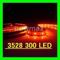 LED Light soft Strips:SMD 3528 LED 60LED/M flexible Non-Waterproof DC12v 300LEDs Red 5m/roll,1 roll/lot