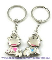 free shipping  12pairs/lot couple lover key chains ,lovely key chain, alloy key chains  best gift for you