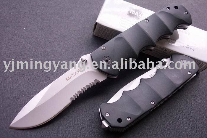 See larger image High Quality OEM MAXAM-Y0853 Black Bear Folding Knife Outdoor Tool UDTEK00488(China (Mainland))