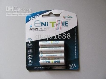 10057 Free Shipping Ni MH Batteries 30lots/120pcs Enitime 750mAh 1.2V Rechargable