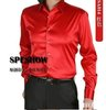 free shipping 100% Silk Mens Casual Shirts Long-sleeve Slim Shirt shirts 9 colors S M L XL XXL XXXL
