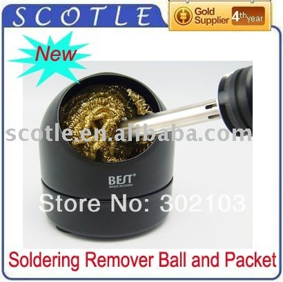 Freeshipping BEST Soldering Iron Tip Cleaning Clean Ball Remover Wire Sponge(China (Mainland))