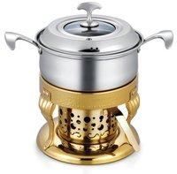European stainless steel boiler fire fondue sets/Exquisite chocolate fondue