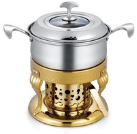 European stainless steel boiler fire fondue sets/Exquisite chocolate fondue