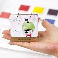 2011 original design, fruits, girl, 2011 mini desk calendar,desktop calendar (10 pieces/lot) air mail , EMS 45%discount