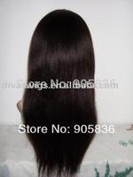 wholesale black  light yaki human hair lace front wig
