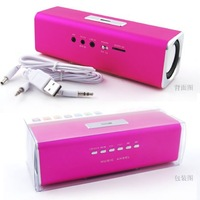 Free Shipping(5pcs/lot) by DHL, Portable USB Speaker support USB/TF card + FM + Best-Selling + Good Quality