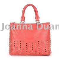 lady's real leather big handbag B-001